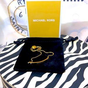 Michael Kors bracelet slider gold w bag like new!